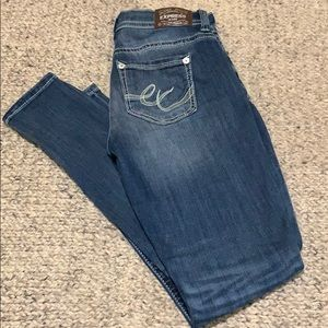 Express mid rise legging jeans size 8r